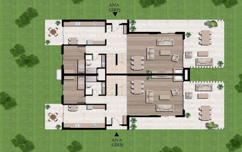Tip 1 Zemin Kat Planı